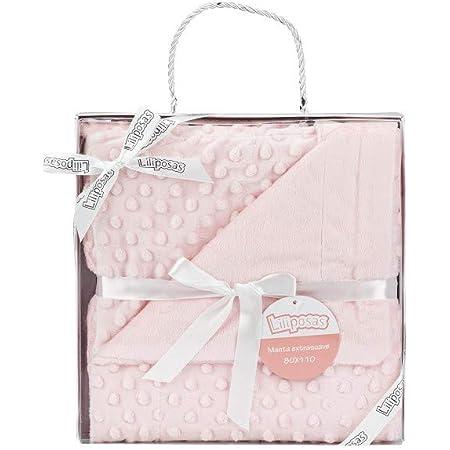 Manta para bebés, 0.80 x 1.10 m Manta para recién Nacidos Mantitas para Bebes Suave y Confortable Cálida niña y niño Mantas para Todas Las Estaciones (Rosa)