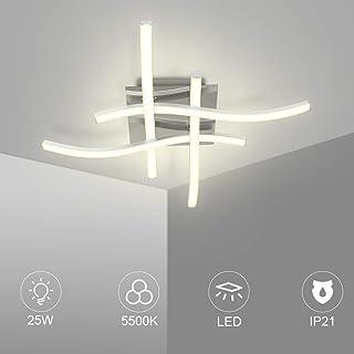 LEDMO Lampara de techo 25W, Lampara led techo con 4 placas de luz 5500K IP21, Se utiliza en escenas interiores como comedor, sala de estar, dormitorio, estudio.