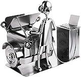 BRUBAKER Screw Man Car Mechanic - Figura de Hierro Hecha a Mano Hombre de Metal - Figura de Metal de Regalo para Mecánicos, Mecatrónicos de Coches, Afinadores y Aficionados a los Coches