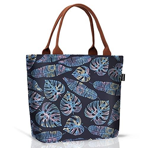 Gloppie Sac Isotherme Repas Lunch Bag Portable Sac à Déjeuner en Tissu Imperméable Pliable Sac Pique-Nique Multi-Usages à l'École au Travai pour Adultes, Enfants