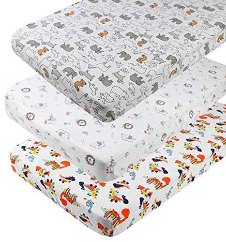 Why Should You Buy Pack n Play Playard Sheet Set 3 Pack 100% Jersey Knit Cotton 190GSM Fitted Portab...