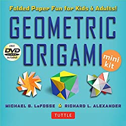 Geometric Origami Mini Kit: Folded Paper Fun for Kids & Adults! This Kit Contains an Origami Book with 48 Modular Origami Papers and an Instructional DVD