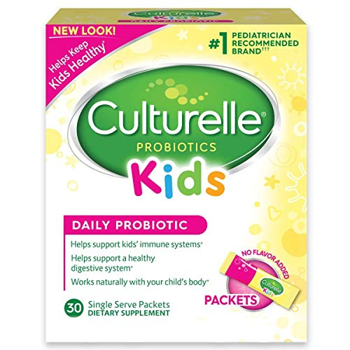 Culturelle For Kids - Probiotic - 30 Dairy Free Probiotic Powder Packets - 30 Ct, Pack Of 3