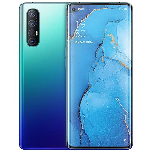 "Original Oppo Reno 3 Pro 5G Smartphone 8G+128GB 6.5"" AMOLED Android 10 Snapdragon 765G Octa Core 4025mAh VOOC 4.0 48.0MP OTG NFC Support Google by-(Real Star Technology) (Blue 8+128G)"