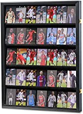 Zmiky 35 Graded Sports Card Display Case Lockable - Baseball Card Display Case with 98% UV Protection Acrylic Wall Display Cabinet for Football Basketball Collectible Trading Card