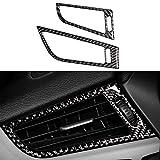 NsbsXs Interior automotriz,para BMW Z4 E89 2009 2015 2PCS / Set Fibra de Carbono Car Front Air Conditioner Vent Outlet Frame Cover Trim Stickers