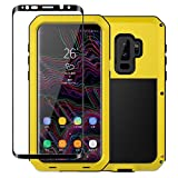 Galaxy S9+ / S9 Plus Case,Tomplus Armor Tank Aluminum Metal Shockproof Military Heavy Duty Protector Cover Hard Case for Samsung Galaxy S9+ / S9 Plus (Yellow)