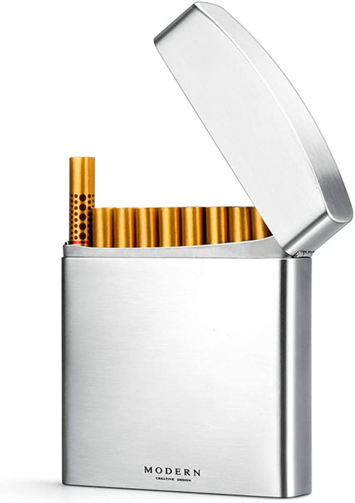 High-end Portable Cigarette case - Texture Max 44% OFF Ultra-Thin -Hip Metal Fashionable