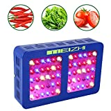 MEIZHI 300W 450W 600W 900W 1200W LED Grow Light, Updated Reflector Full Spectrum Dual Switches for Indoor Plants Veg Flower - 300W Led Growing Lamp,60pcs High Brightness LEDs