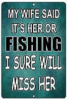 Fishing ティンサイン ポスター ン サイン プレート ブリキ看板 ホーム バーために
