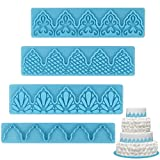 Mity rain Cake Fondant Embossing Mold/Lace Embossed cutter/Relief Plastic Cake Border Mould for Sugarcraft Baking Mold Cake Decor Tool Cupcake Decorating