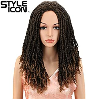 "Style Icon 22"" Long Dreadlock Wig Twist Wigs for Black Women Synthetic Hair Dreadlock Wig Long Synthetic Wigs African American Wigs Heat Resistant Replacement Wig (22"", T1B/27)"
