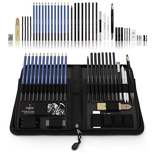 CASTLE Art Graphite Drawing Pencils Kit
