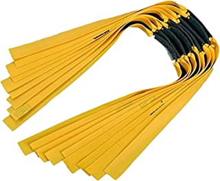 Tongtu 16pcs Powerful Slingshot Flat Rubber Band 0.65mm Hunting Outdoor Shooting Game