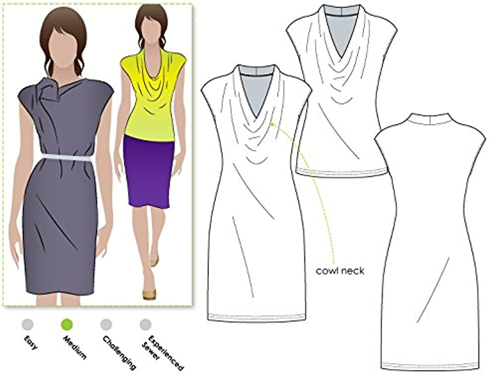 Style Arc Sewing Pattern - Franki Dress or Top (Sizes 18-30) - Click for Other Sizes Available