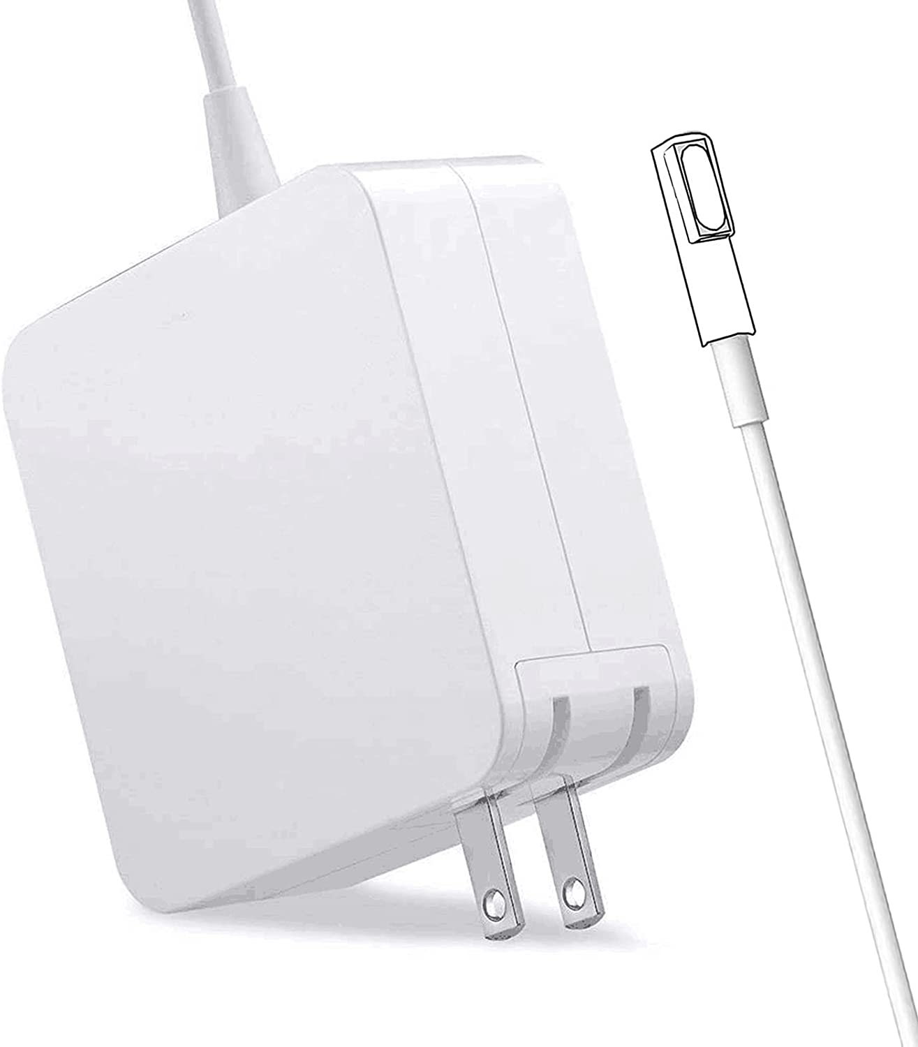 Mac Book Pro Charger,60W Power Adapter Magnetic L-Tip Connector Charger for Mac Book and 13-inch Mac Book Pro