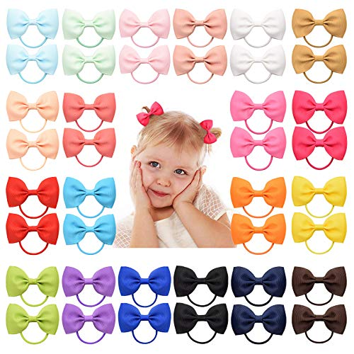 YHXX YLEN Haarspangen für Babys, Mädchen, 5 cm, Ripsband, Schleifen, Haarspangen für Mädchen, Teenager, Kinder, Babies, Kleinkinder, 40 Stück