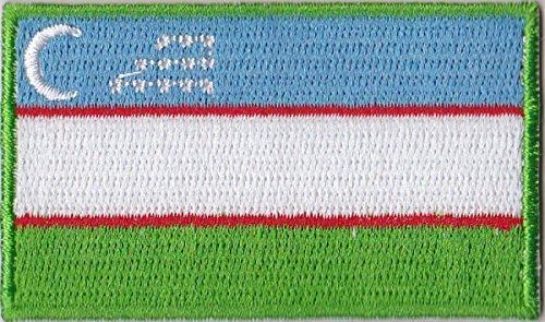 Flaggen Aufnäher Patch Usbekistan Fahne Flagge - 6 x 3,5 cm