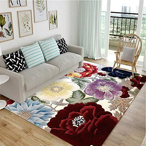 Hoge kwaliteit stereo kleurrijke bloemen hoge kwaliteit art tapijt voor een woonkamer slaapkamer antislip vloermat modus keuken tapijt, 03,40 x 60cm