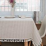 LIUJIU Paño de mesa, cubierta de tela de fibra de poliéster para boda/banquete/restaurante/banquete, 100x140CM