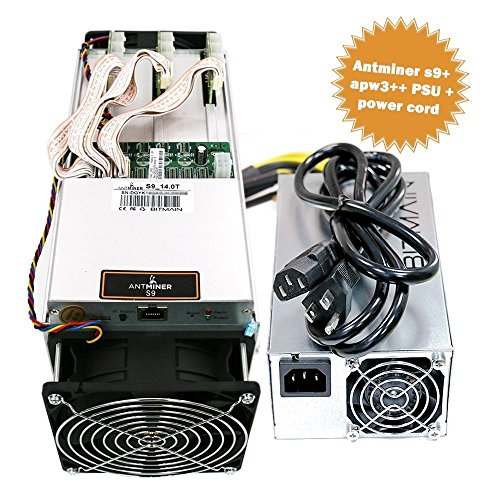 Antminer S9~14.0TH/s @ 0.098W/GH 16nm ASIC Bitcoin Miner with PSU and Cord