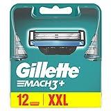Gillette Mach3 Lames de Rasoir Homme, Pack de 12 Lames de Recharges [OFFICIEL]