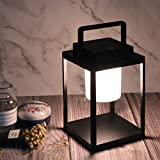 HLFVLITE Table Lamp Waterproof Garden Light Touch-Sensitive LED Night Light Portable Outdoor Rechargeable Hand Lamp, Dimmable Decor Candle Lantern Desk Lights for Indoor, Garden, Patio, Yard, Path