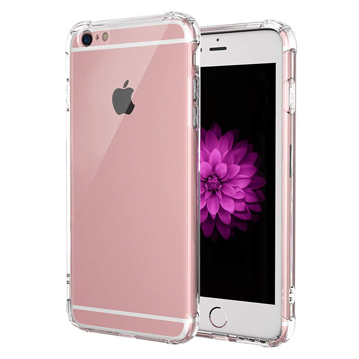 JanCalm Slim Clear Soft TPU Case for iPhone 6 Plus and iPhone 6s Plus, Soft Flexible Protective Cover Compatible for Apple iPhone 6/6S Plus (Clear)