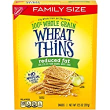 Wheat Thins Reduced Fat Whole Grain Wheat Crackers, Family Size, 12.5 Oz, 1Count