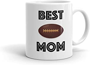 BEST FOOTBALL MOM Sports Coffee Mug (11oz) | FREE SHIPPING - Personalized Photo Mug Option Love & Appreciation Mothers Day Gift by Son Daughter Athlete Kids Children | Also available in 15oz & for Dad
