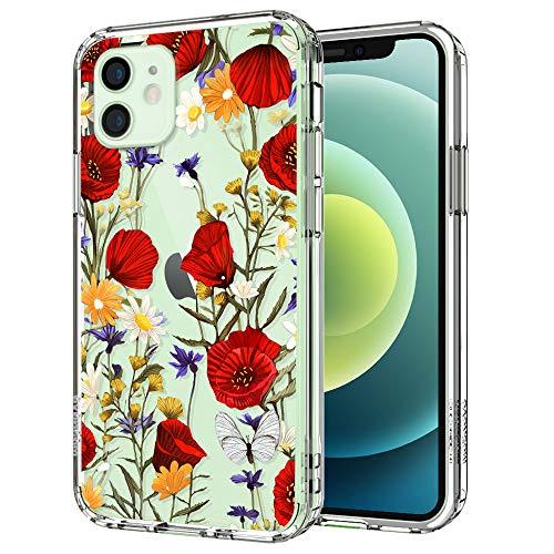 MOSNOVO Coque transparente avec motif coquelicot floral pour ...