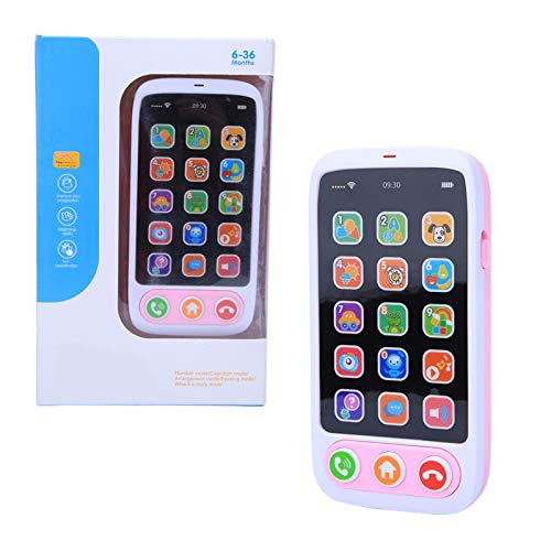 Giocattolo del telefono, riproduzione di musica Apprendimento del telefono cellulare educativo Simulato Smart Phone Music Light Toys per neonati Bambini Bambini(Rosa)