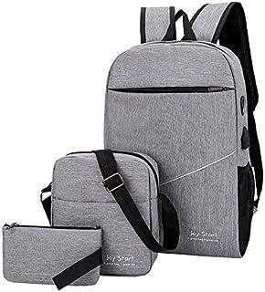 3 قطع من حقيبة ظهر للاولاد والبنات، ازياء قماشية، حقيبة الظهر للمدرسة، مجموعة للبنات، حقيبة الكتب الابتدائية
