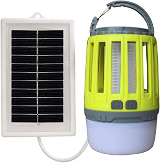 Energía Solar Lámpara Antimosquitos Portátil Lámpara Camping y Noche Lámpara LED Mosquitera Eléctrica USB Recargable Silencioso