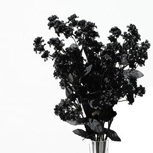 19″ Silk Double Baby's Breath Flower Spray -Black (Pack of 24)