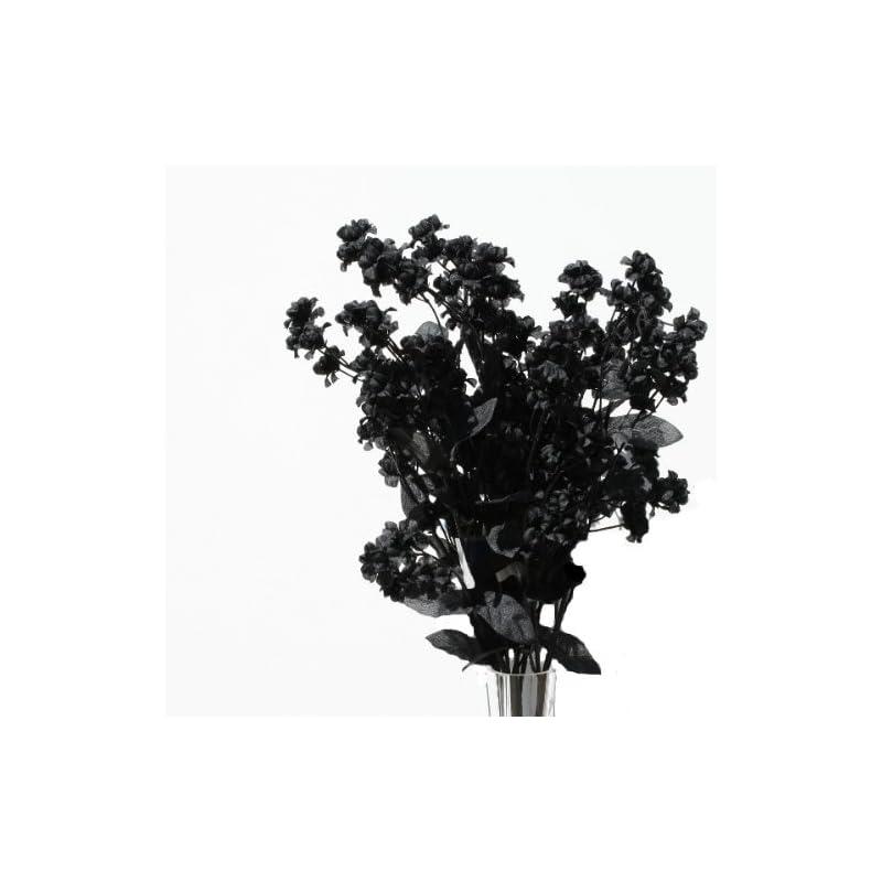 """silk flower arrangements 19"""" silk double baby's breath flower spray -black (pack of 24)"""