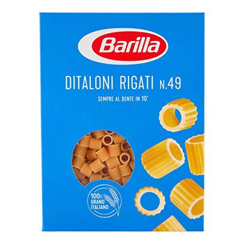 Barilla Pasta Ditaloni Rigati N.49, Pastina di Semola di Grano Duro, I Classici, 500g