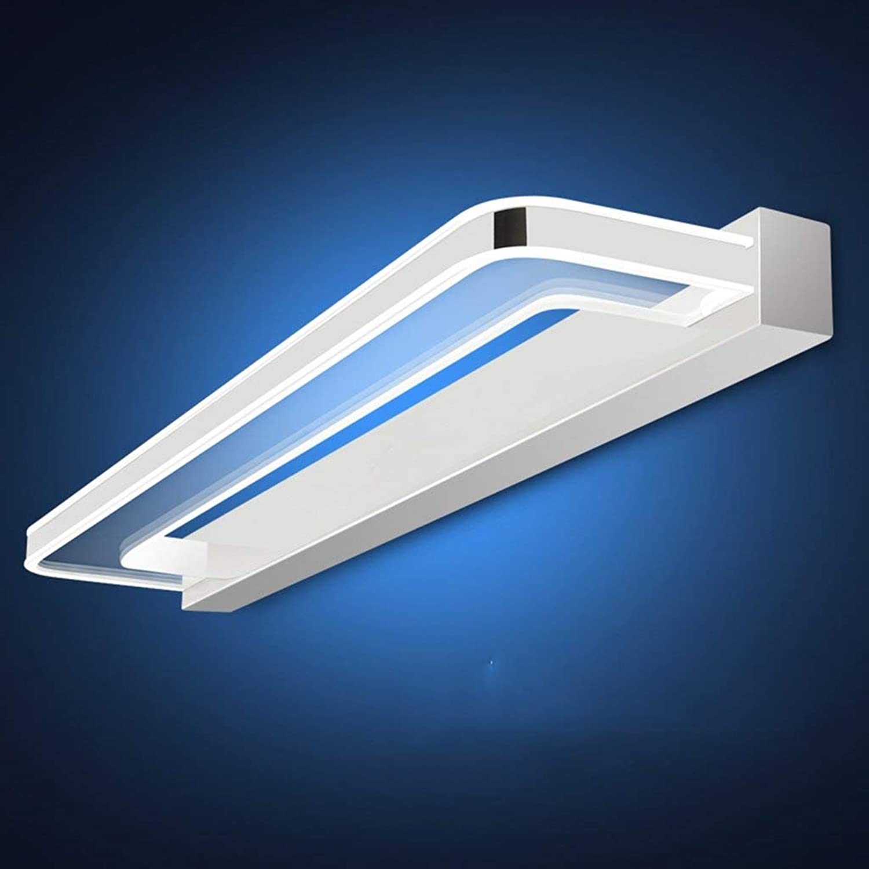Badezimmerbeleuchtung Spiegel Front Ligh, wasserdicht und Anti-Fog Bad Spiegel Scheinwerfer Einfache moderne LED Make-up Lampe Vanity Mirror Lampe Licht (Farbe   Weies Licht-9W 48cm)