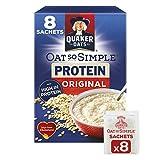 Sobres Quaker Oats So Simple Protein, 38 g, Original, Paquete de 8