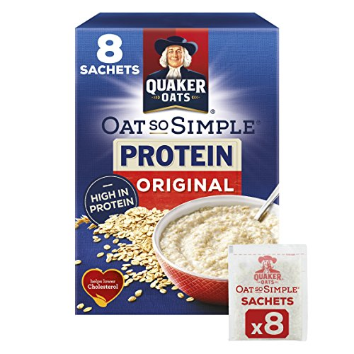 Sobres Quaker Oats So Simple Protein, 38 g, Original, Paquete de 8