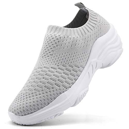 Donna Scarpe da Ginnastica Corsa Sportive Fitness Running Sneakers Basse Interior Casual all'Aperto, Grigio 1, 40 EU