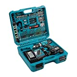 Makita DHP453SFTK 18V LXT Combi Drill with 101 Piece Accessory Set BHP453RFTK, 18 V