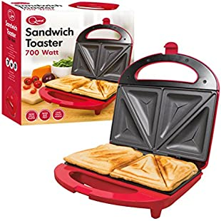 Quest Sandwich Maker, 700 Watt, Red:Comoparardefumar