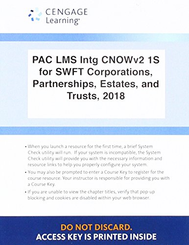 LMS Integrated CengageNOWv2, 1 term Printed Access Card for Hoffman/Raabe/Young/Nellen/Maloney's South-Western Federal Taxation 2018: Corporations, Partnerships, Estates and Trusts, 41st