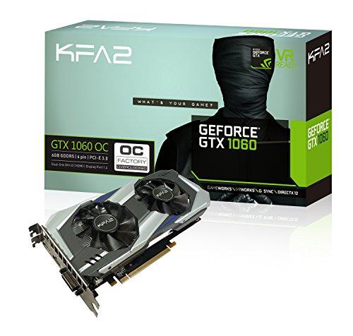 KFA2 GeForce GTX 1060 OC 6GB GeForce GTX 1060 6GB GDDR5 - Tarjeta gráfica (GeForce GTX 1060, 6 GB, GDDR5, 192 bit, 7680 x 4320 Pixeles, PCI Express 3.0)