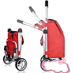 CAR SHUN Luggage Cart Folding Lightweight Shopping Groceries Luggage Cart:Netac2