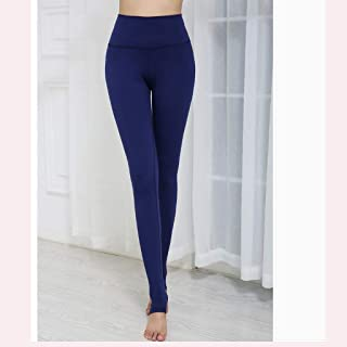 HXLG Women's Long Leggings Fitness Yoga Pants Sports Running Tights High Waist Stretch Fitness Trousers (Color : Blue, Size : XXXL)