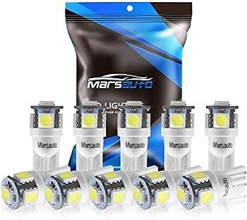 10-Pack Marsauto 194 LED Light Bulb
