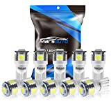 Marsauto 194 LED Light Bulb 6000K 168 T10 2825 5SMD LED Replacement Bulbs for Car Dome Map...