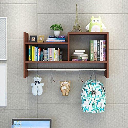 WLH- Creative wandrekken kapstok bovenkasten opknoping kasten slaapzaal hole-free boekenkast boekenkast (Color : Pink)